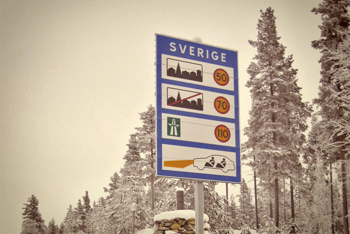 Overland travel to Sweden