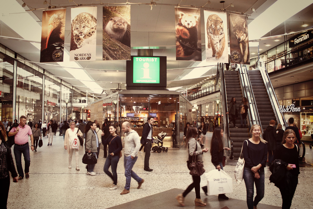 Nordstan shopping mall, Gothenburg – Routes North