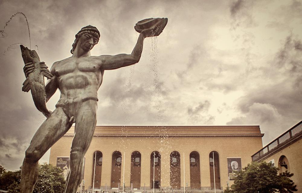 Poseidon statue, Avenyn, Gothenburg, Sweden