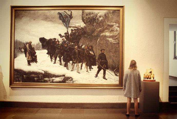Karl XIIs likfärd at Gothenburg art museum (Konstmuseum)