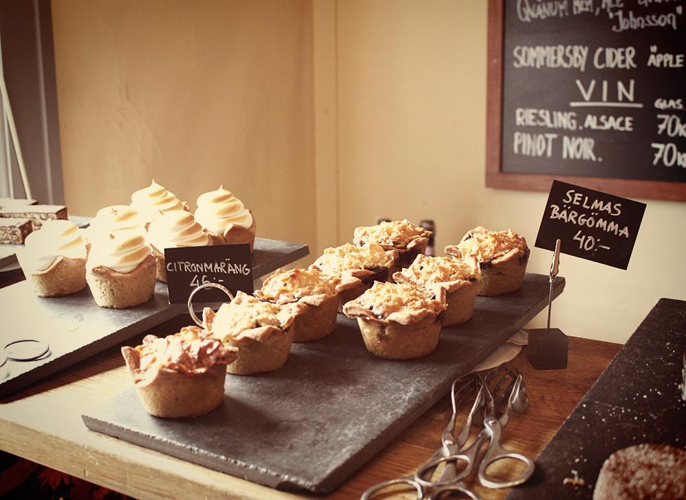 cakes at Gunnebo Slott cafe