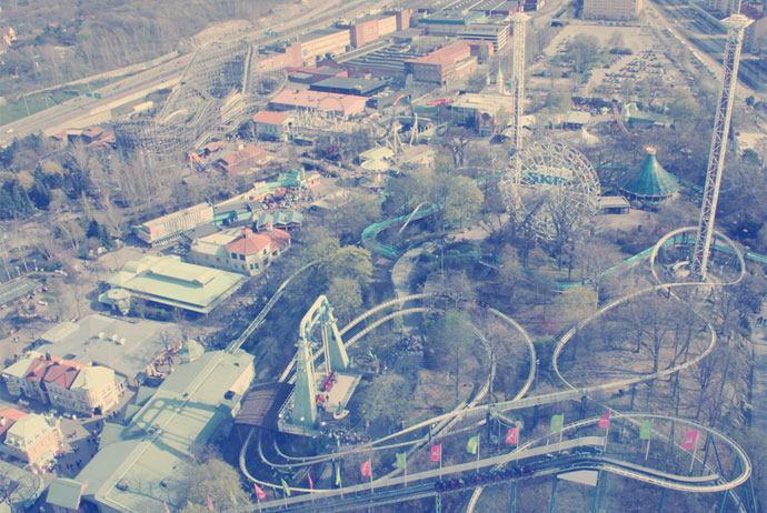 Liseberg theme park in Gothenburg
