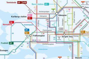 Stockholm bus map
