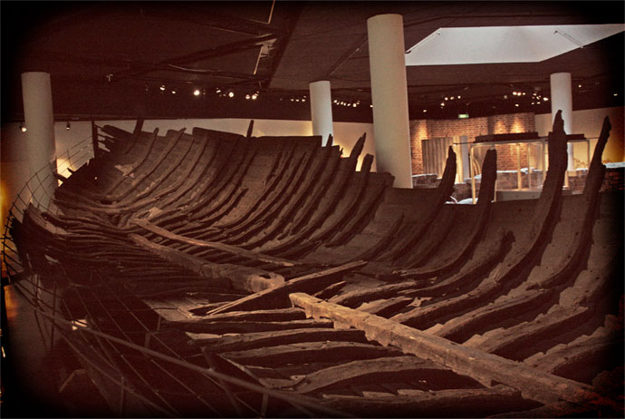 Riddarholm ship at the Medieval Museum in Stockholm