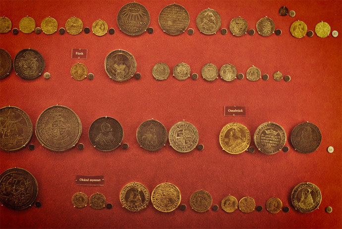 Money at the Myntkabinettet museum in Stockholm