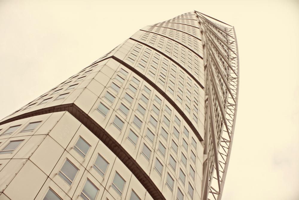 The Turning Torso skyscraper in Malmö