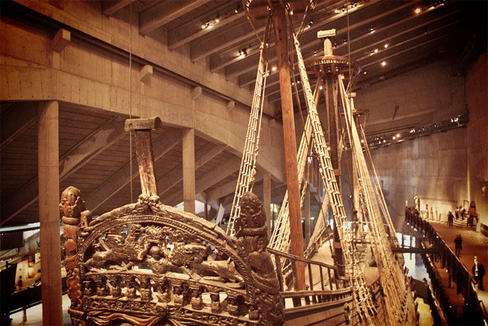 The warship at the Vasa Museum Stockholm