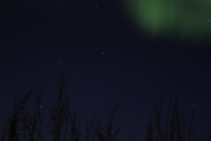 You can see the northern lights near Kiruna