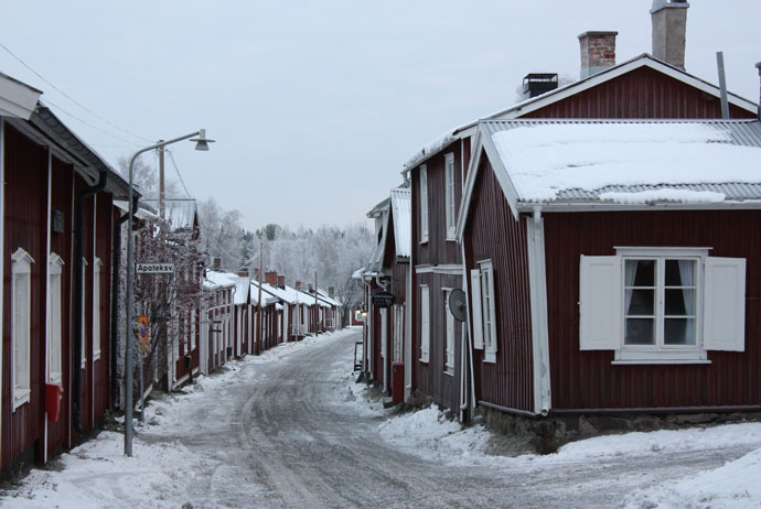 The church town near Luleå, Sweden