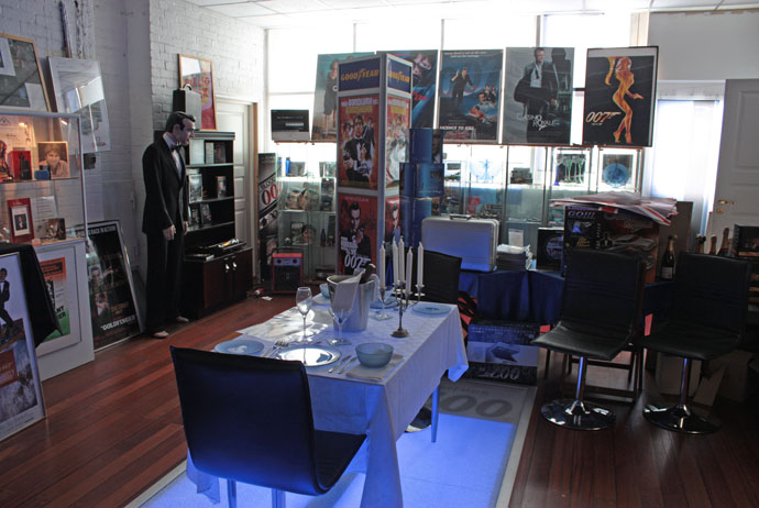 Inside the James Bond museum in Nybro