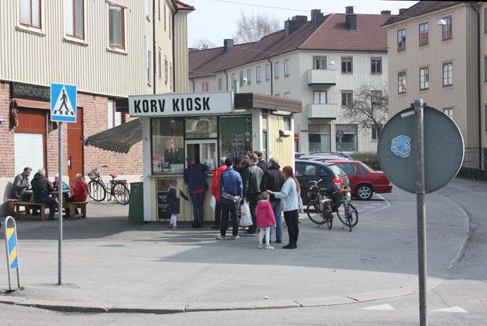 Hot dog kiosk in Majorna, Gothenburg