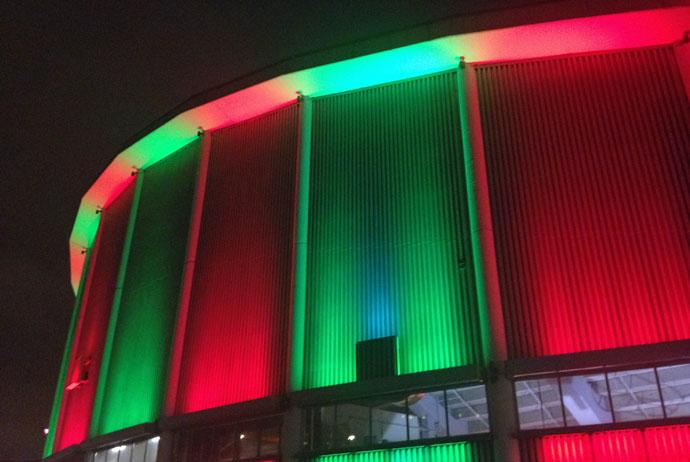 Watching the ice hockey in Gothenburg, Sweden