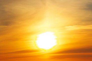 The midnight sun in Sweden