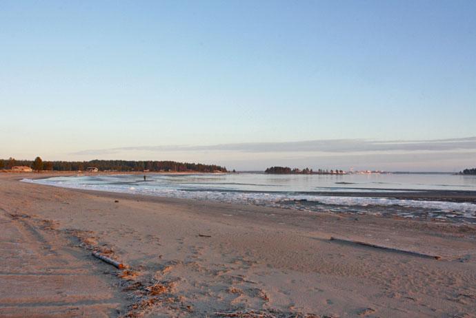 Pite Havsbad is a popular beach resort in northern Sweden