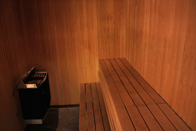 Going nude is normal in Swedish saunas