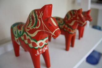 A Dala horse is the classic Swedish souvenir