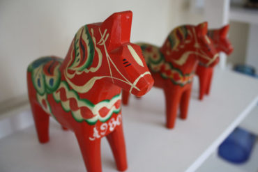 A Dala horse is the classic Swedish souvenir