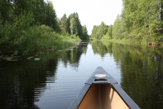 Kayaking is a great thing to do when camping in Sweden