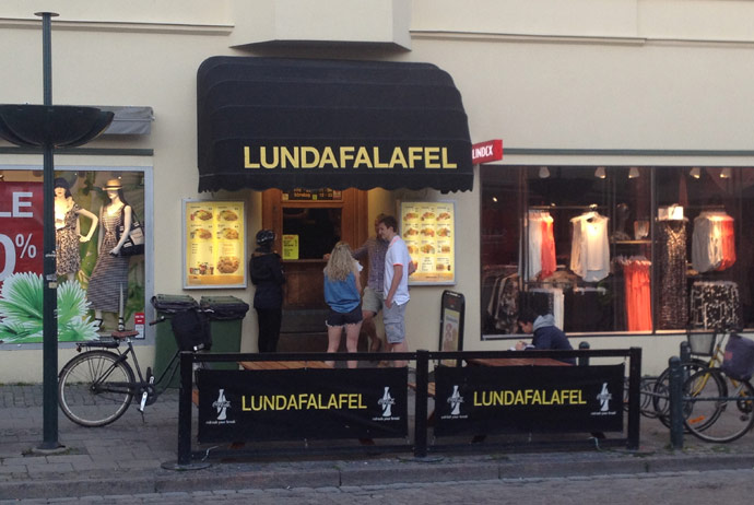 Lundafalafel is the locals' favourite falafel place