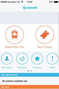 The Västtrafik app is worth downloading if you're going to Gothenburg