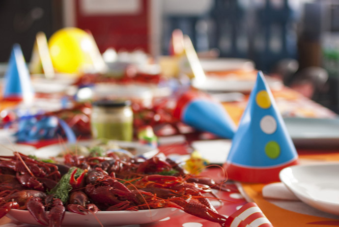 Crayfish party in Sweden