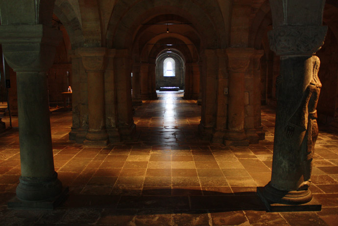 The crypt inside Lund's cathedral