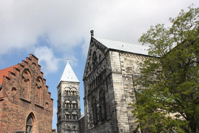 Lundagård, near Lund's biggest church