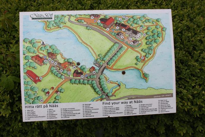 Map at Nääs Slott