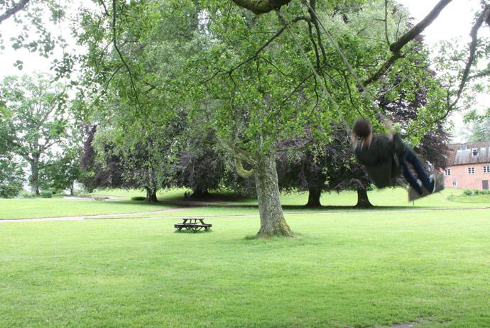 The swings at Naas Slott