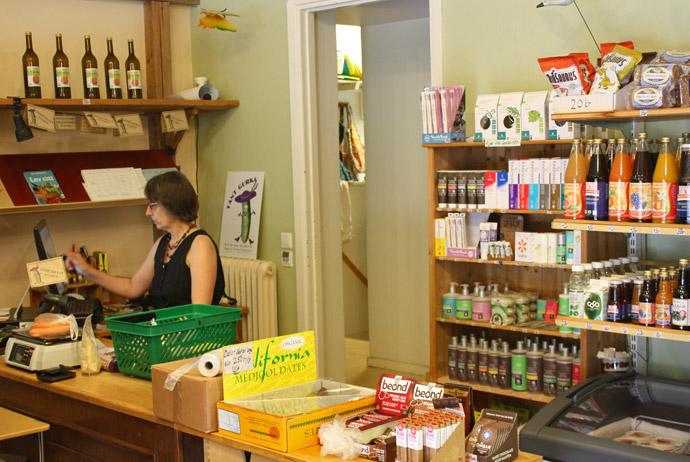 Organic food shop in Lund