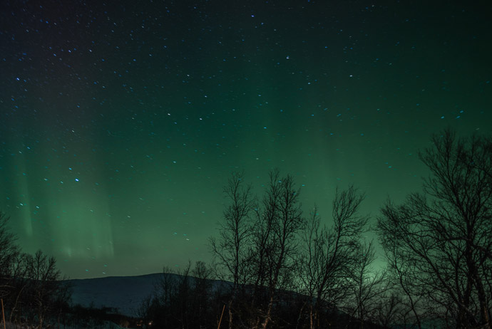 The northern lights in Sweden