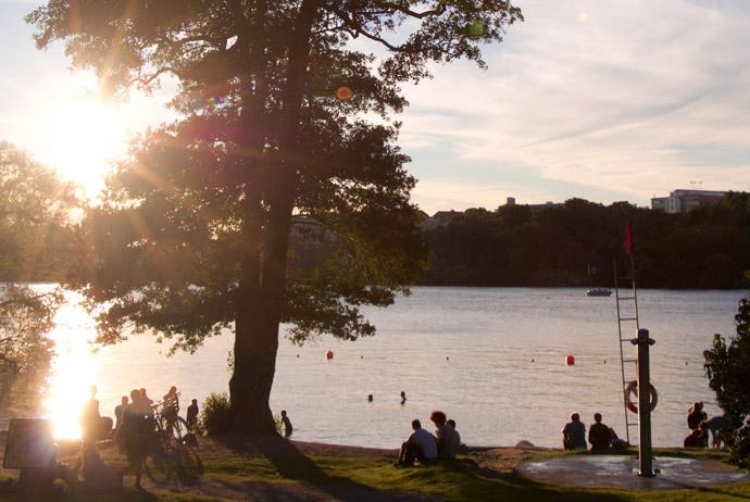 Free swimming at Långholmen, Stockholm