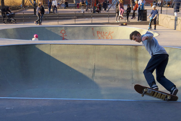 There are free skateparks across Stockholm