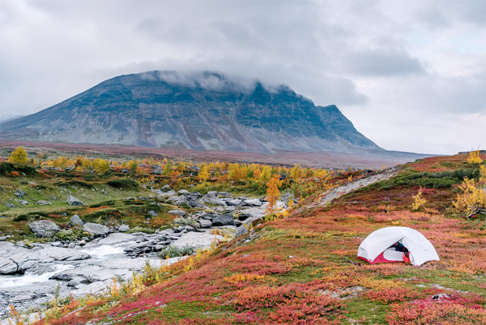 Kungsleden in Sweden during the autumn