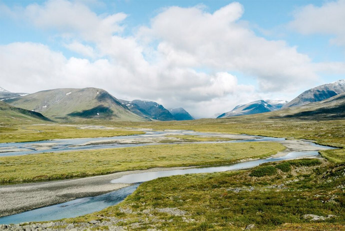 Walking the Kungsleden trail in Sweden