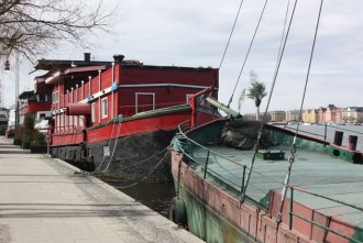 The red boat in Stockholm