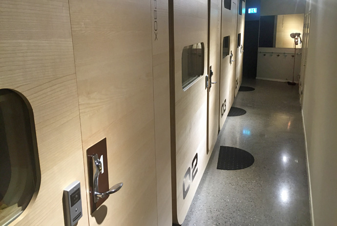 Stockholm's first capsule hotel, at the Tele2 Arena