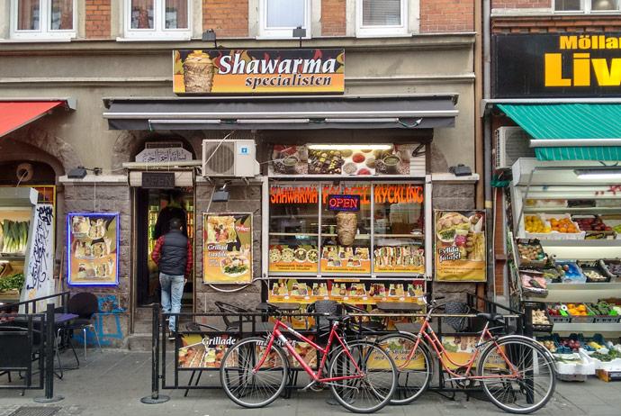 Falafel is a popular budget snack in Malmö, Sweden