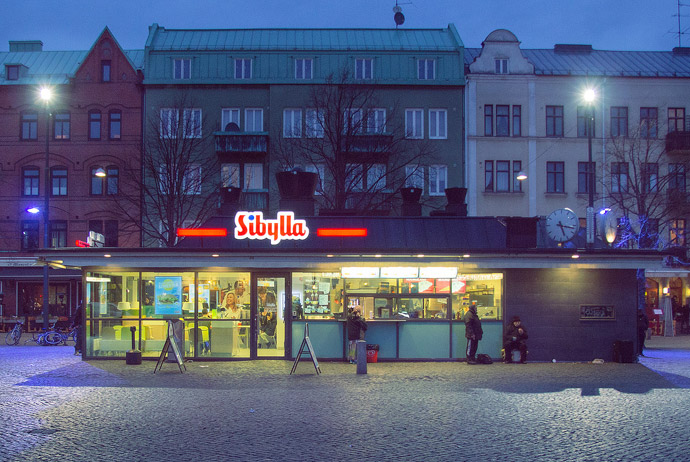 Sibylla is a popular place for fast food in Sweden