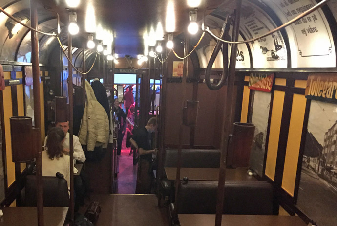 Tram restaurant in Copenhagen