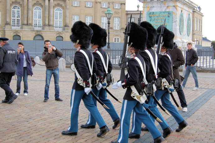 It's free to watch the changing of the guard in Copenhagen
