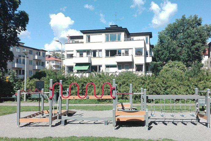 Outdoor gym for seniors in Stockholm