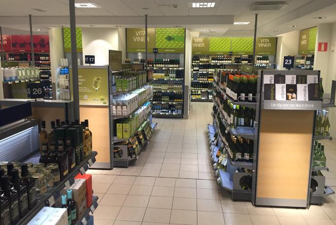 The bottle shop in Sweden