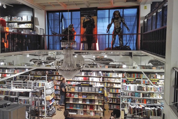 Science fiction bookshop