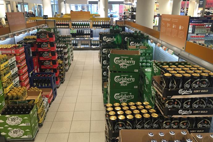 Beer on sale at Systembolaget in Sweden