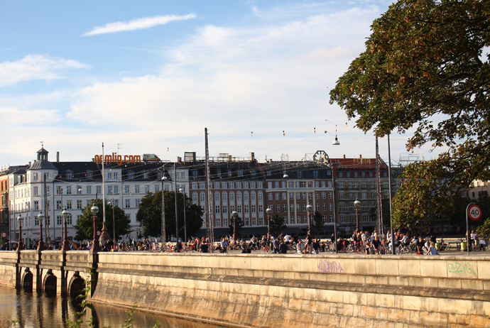 The bridge to Nørrebro in central Copenhagen