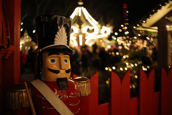 Christmas market at Tivoli in Copenhagen