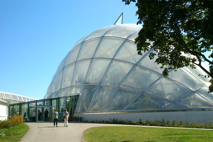 The botanical gardens in Aarhus, Denmark are free to visit