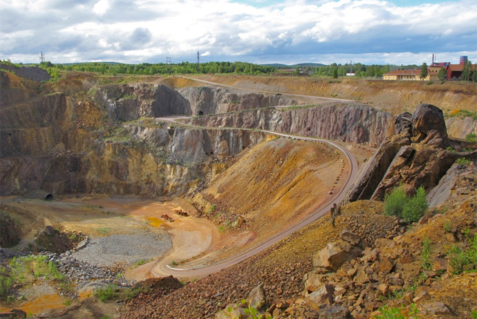 The mine in Falun, Sweden