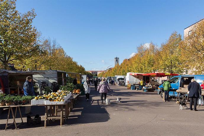 Flea market in Aarhus, Denmark